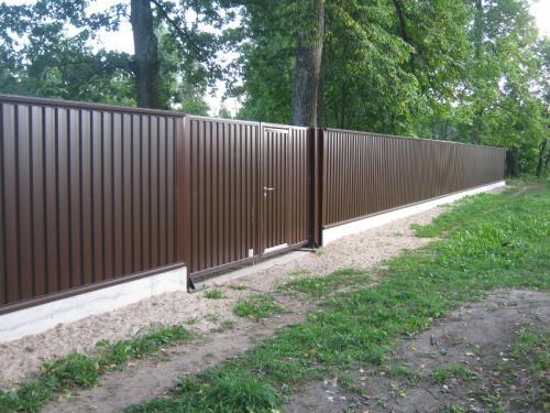 Забор столб профнастил своими руками фото 583
